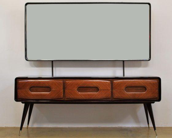 Midcentury Italian dressing table in rosewood designed by Vittorio Dassi