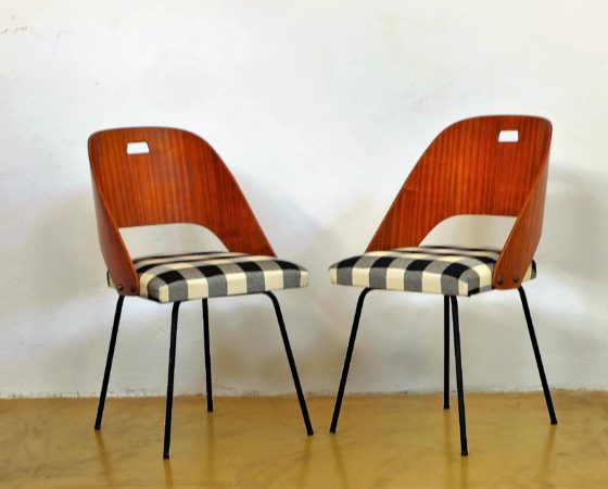 Pair of mid-century italian dining chairs