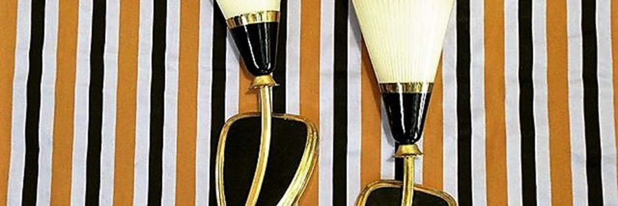 Mid-century pair of wall sconces France