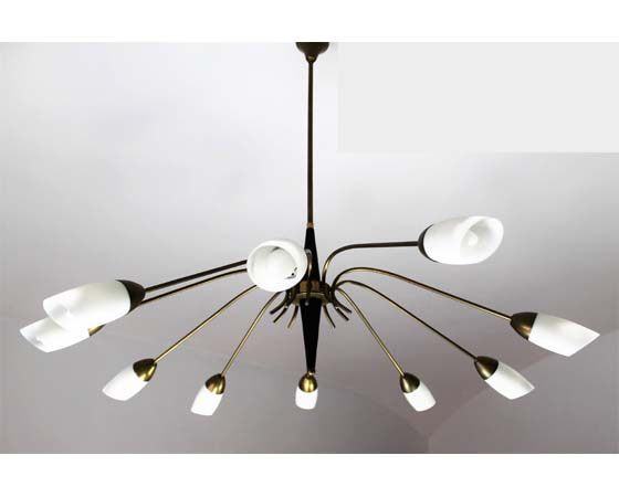 Chandelier 10 arms 50s