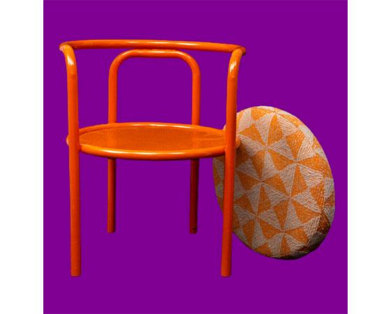 Gae Aulenti Locus Solus orange chair