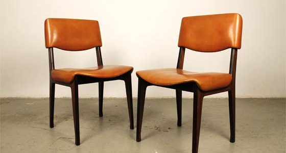 Mid-century italian Rosewood chairs by Ico Parisi for MIM