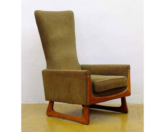 Mid-century american walnut lounge chair Adrian Pearsal