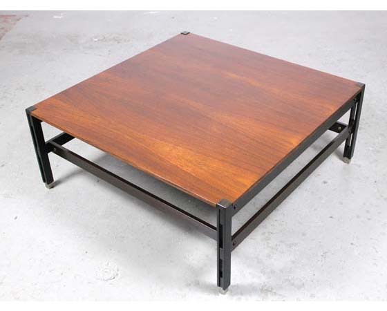 "Mid-century italian rosewood coffee table ""Tivoli"" Ico Parisi for Mim"