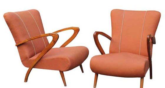 Pair of mid-century italian lounge chairs Paolo Buffa style
