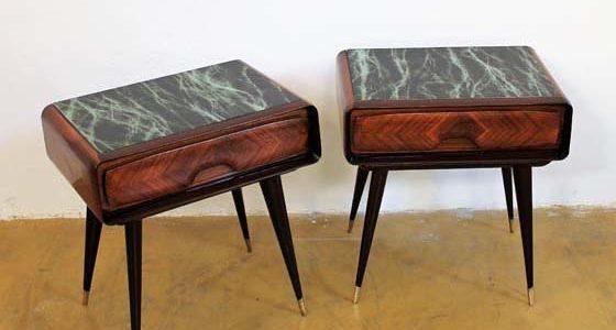 Pair of mid-century italian night tables designed by Vittorio Dassi