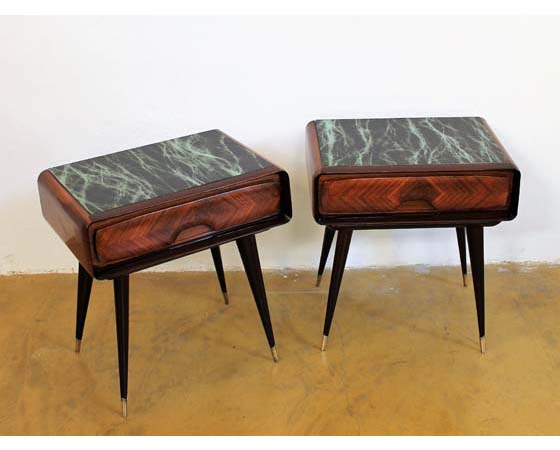 Pair of mid-century italian night tables designed by Vittorio Dassi