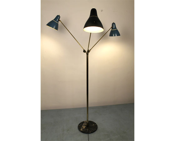 Stilnovo three lights floor lamp